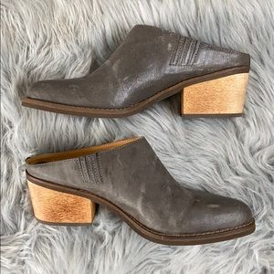 Latigo Keeper leather mule 9M Anthropologie